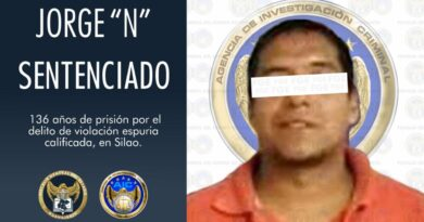 Violador de una menor de edad en Silao es sentenciado a 136 años de prisión.