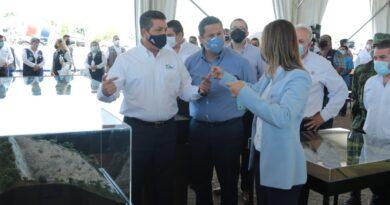 Gobernadores de Guanajuato y Tamaulipas dan banderazo a obra que conectará a ambos estados.