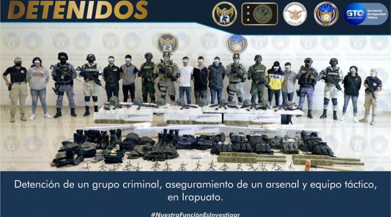 Fiscalía de Guanajuato pone a disposición del MP federal a 10 secuestradores del CJNG.